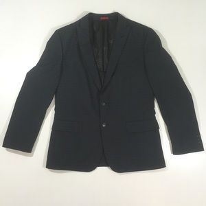 John Varvatos USA Dwell Navy blue plaid blazer